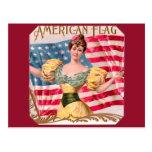 American Flag Vintage Advertising Post Card