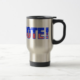 American Flag VOTE! Design Stainless Steel Travel Mug
