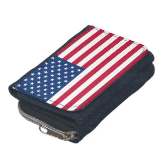 American Flag Wallet with Coin Purse