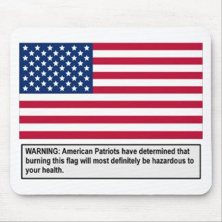 American Flag Warning Mousepads