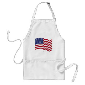American Flag Waving Apron