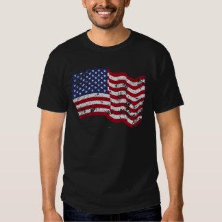 American Flag Waving - Distressed Tees