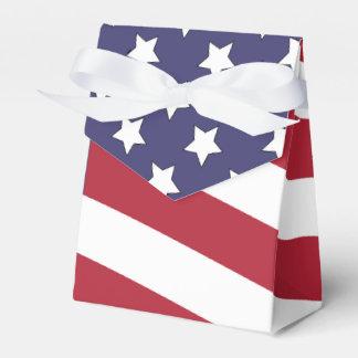 American Flag Waving Favour Box