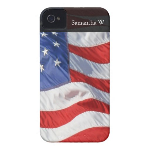American Flag, Waving in Wind iPhone 4 Case-Mate Cases