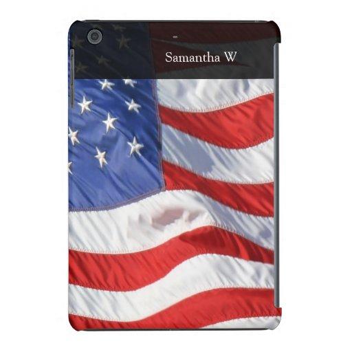 American Flag, Waving in Wind iPad Mini Retina Case