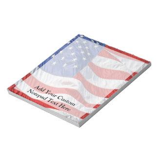 American Flag, Waving in Wind Notepad