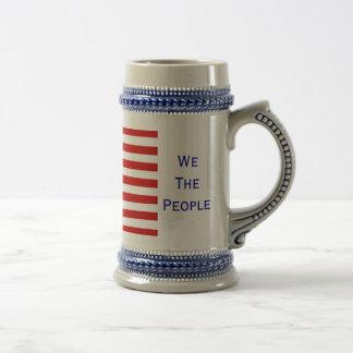 American Flag We The People Beer Stein by Janz Beer Steins