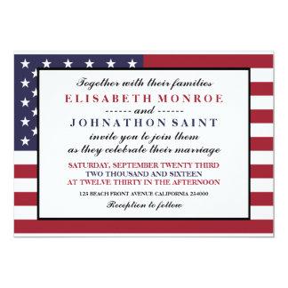 American Flag Wedding 13 Cm X 18 Cm Invitation Card