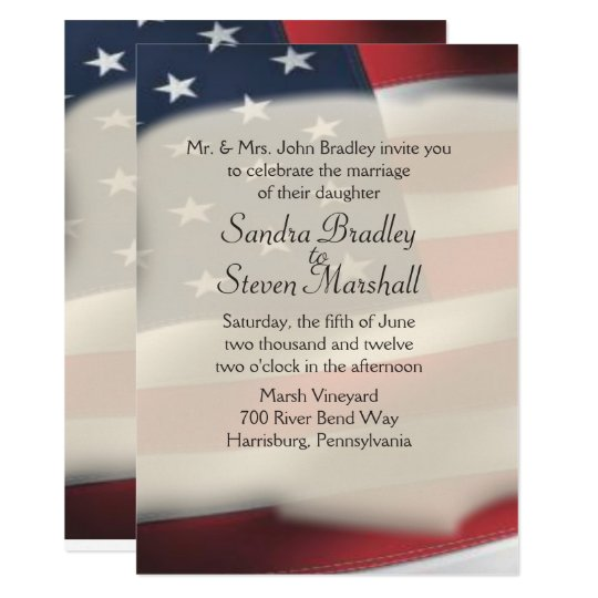 american flag wedding invitations zazzle co uk