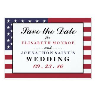 American Flag Wedding Save The Date 13 Cm X 18 Cm Invitation Card