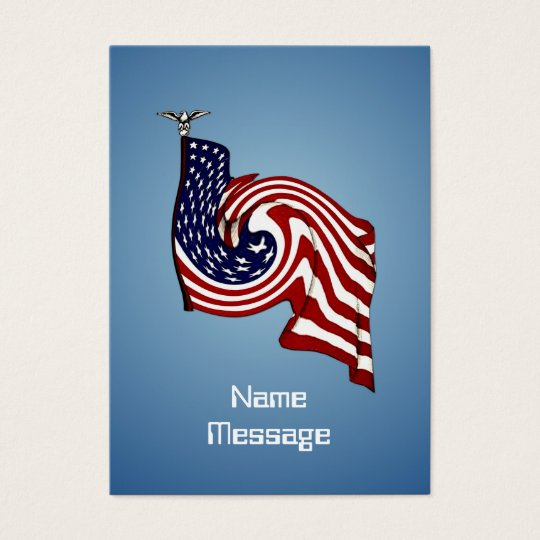 American Flag Whirlwind Flow Business Card