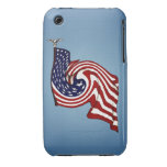 American Flag Whirlwind Flow iPhone 3G/3GS Case