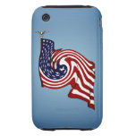 American Flag Whirlwind Flow iPhone 3G/3GS Tough
