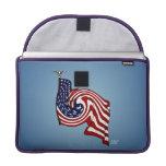 "American Flag Whirlwind Flow Macbook Pro 13"" MacBook Pro Sleeve"
