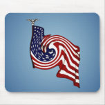 American Flag Whirlwind Flow Mousepad
