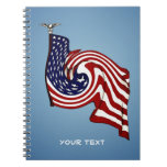American Flag Whirlwind Flow Note Book