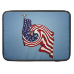 "American Flag Whirlwind Macbook Pro 15"" Sleeve"