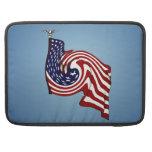 "American Flag Whirlwind Macbook Pro 15"" Sleeve Sleeves For MacBooks"