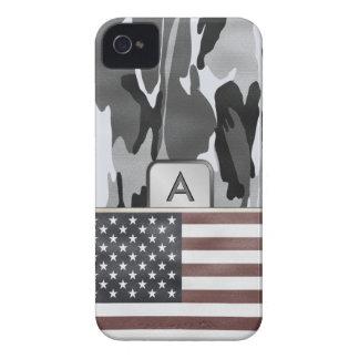 American Flag Winter Camo MonoGram Case-Mate iPhone 4 Cases