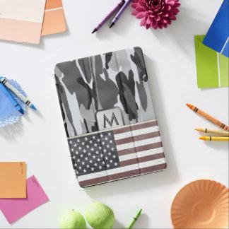 American Flag Winter Camo MonoGram iPad Pro Cover
