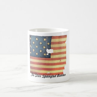 American Flag with 15 Stars - Star Spangled Banner Basic White Mug