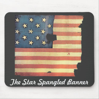 American Flag with 15 Stars - Star Spangled Banner Mouse Pad