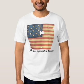 American Flag with 15 Stars - Star Spangled Banner Tshirts