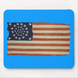 American Flag with 34 Stars Mouse Pad