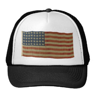 American Flag with 40 Stars Mesh Hat
