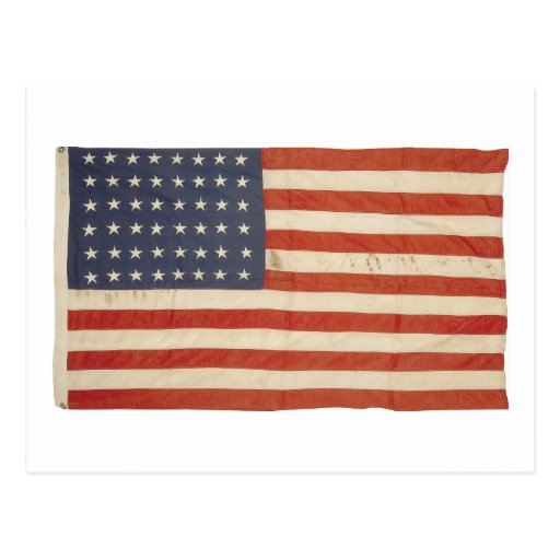 American Flag with 48 Stars Post Cards