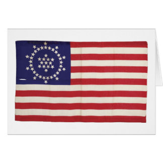 American Flag with 48 Stars Whipple Greeting Card