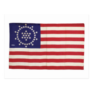 American Flag with 48 Stars Whipple Postcard