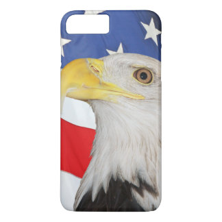 American Flag With American Bald Eagle iPhone 7 Plus Case