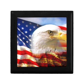 American Flag with Bald Eagle Gift Box