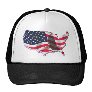 American Flag with Bald Eagle Mesh Hat