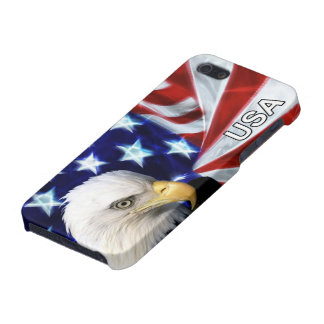 American Flag with Bald Eagle iPhone 5/5S Cases