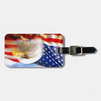 American Flag with Bald Eagle Luggage Tag