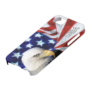 American Flag with Bald Eagle Patriotic Barely There iPhone 5 Case