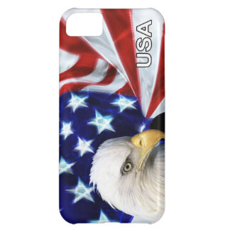 American Flag with Bald Eagle Patriotic Case For iPhone 5C