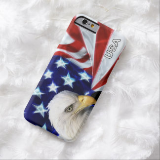 American Flag with Bald Eagle Patriotic Barely There iPhone 6 Case