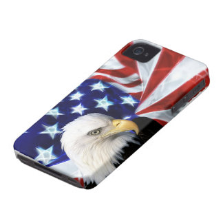 American Flag with Bald Eagle Patriotism Case-Mate iPhone 4 Cases