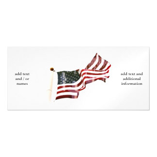 American Flag with Crosses Magnetic Invitations