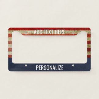 American Flag with Custom Add 2 Lines Text