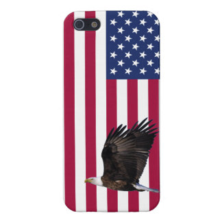 American Flag with Eagle Glossy Savvy iPhone 5 iPhone 5 Covers