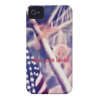 American Flag with Inspirational Quote Case-Mate iPhone 4 Cases
