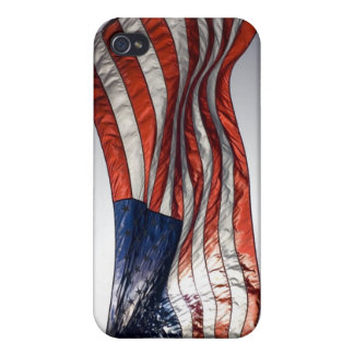 American Flag with Sun in the Background Case For iPhone 4