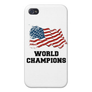 American Flag World Champions Covers For iPhone 4