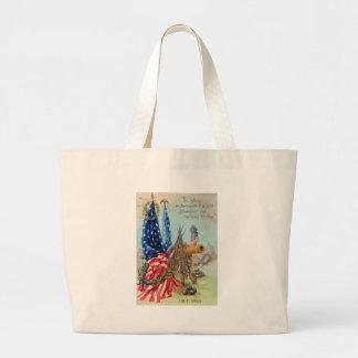 American Flag Wreath Civil War Memorial Jumbo Tote Bag