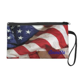 American Flag Wristlet Purse