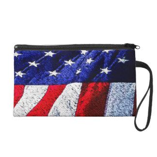 American Flag Wristlets